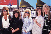 HOUSE OF LORDS - L-R: Chuck Wright, James Christian, Ken Mary, Lanny Cordola, Gregg Giuffria - photographed in Amsterdam Netherlands - 03 May 1989.  Photo credit: George Chin/IconicPix