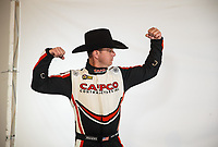 Feb 7, 2019; Pomona, CA, USA; NHRA top fuel driver Steve Torrence poses for a portrait during NHRA Media Day at the NHRA Museum. Mandatory Credit: Mark J. Rebilas-USA TODAY Sports