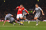 Wayne Rooney of Manchester United struggles to find a way past the Burnley defence - Manchester United vs. Burnley - Barclay's Premier League - Old Trafford - Manchester - 11/02/2015 Pic Philip Oldham/Sportimage
