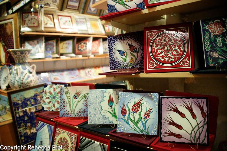Ceramics at the Grand Bazaar, Istanbul, Turkey