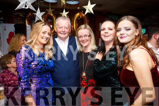 Dominick Foley, St. Brendan's Park  celebrates his 80th birthday with family and friends at the Castle Bar on Saturday Pictured l-r Tracy Hurley, Dominick Foley, Geraldine Cooper, Aisling Muldowney and Clodagh Foley