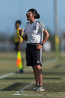 Bradenton, FL - Sunday, June 12, 2018: Monica Vergara during a U-17 Women's Championship Finals match between USA and Mexico at IMG Academy.  USA defeated Mexico 3-2 to win the championship.