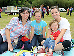 Julanne, Kate and Elna Flanagan and Isobel Walsh from Kentstown pictured at the Ladywell Fete held in the grounds of Slane castle. Photo: www.pressphotos.ie