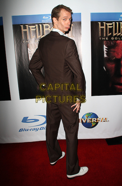 "DOUG JONES .""Hellboy II The Golden Army "" DVD Blue-Ray Release Party held at Club Element, Hollywood, California, USA..November 11th, 2008.full length brown suit looking over shoulder .CAP/ADM/FS.©Faye Sadou/AdMedia/Capital Pictures."