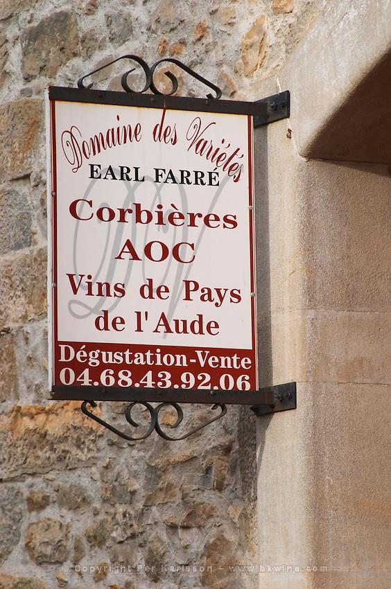 Domaine des Varietes, Earl Farre, Corbieres AOC. Vins de Pays VdP de l'Aude. Les Corbieres. Languedoc. France. Europe.
