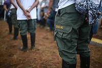 EL DIAMANTE -LLANOS DEL YARI-COLOMBIA , 21-09-2016. Aspectos generales de la Décima Conferencia de las FARC y de la vida cotidiana  de los guerrilleros en los campamentos  . / FARC members attending the Tenth Conference of the FARC  Photo:VizzorImage / Iván Valencia  / Contribuidor