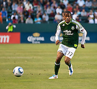 CARSON, CA – June 3, 2011: Portland Timbers defender Jeremy Hall (17) during the match between Chivas USA and Portland Timbers at the Home Depot Center in Carson, California. Final score Chivas USA 1, Portland Timbers 0.