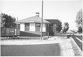 D&amp;RGW Aztec depot south end.<br /> D&amp;RGW  Aztec, NM