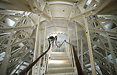 Interior supports between the newly-restored exterior Capitol Dome and the interior dome are seen at the US Capitol in Washington, DC, November 15, 2016. <br /> Credit: Olivier Douliery / Pool via CNP