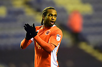 Blackpool's Nathan Delfouneso applauds the fans at the end of the match<br /> <br /> Photographer Richard Martin-Roberts/CameraSport<br /> <br /> The EFL Sky Bet League One - Wigan Athletic v Blackpool - Tuesday 13th February 2018 - DW Stadium - Wigan<br /> <br /> World Copyright &not;&copy; 2018 CameraSport. All rights reserved. 43 Linden Ave. Countesthorpe. Leicester. England. LE8 5PG - Tel: +44 (0) 116 277 4147 - admin@camerasport.com - www.camerasport.com