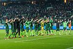 12.03.2018, Weser Stadion, Bremen, GER, 1.FBL, Werder Bremen vs 1.FC Koeln, im Bild<br /> Die Mannschaft dankt den Fans<br /> Niklas Moisander (Werder Bremen #18)Ludwig Augustinsson (Werder Bremen #5)<br /> Jaroslav Drobny (Werder Bremen #33)<br /> Theodor Gebre Selassie (Werder Bremen #23)<br /> Max Kruse (Werder Bremen #10)<br /> Zlatko Junuzovic (Werder Bremen #16)<br /> Max Kruse (Werder Bremen #10)<br /> Milos Veljkovic (Werder Bremen #13)<br /> Jiri Pavlenka (Werder Bremen #1)<br /> Milot Rashica (Werder Bremen #11)<br /> <br /> <br /> Foto &copy; nordphoto / Kokenge