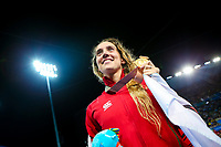 Picture by Alex Whitehead/SWpix.com - 09/04/2018 - Commonwealth Games - Swimming - Optus Aquatics Centre, Gold Coast, Australia - Alys Thomas of Wales wins Gold in the Women's 200m Butterfly final.