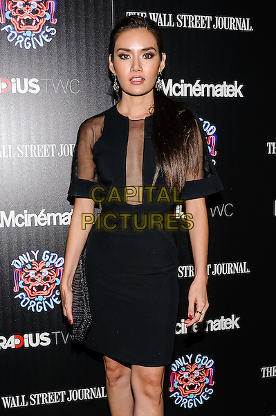Yayaying Rhatha Phongam<br /> &quot;Only God Forgives&quot; New York Screening, New York, New York, USA.<br /> July 16th, 2013<br /> half length black dress clutch bag sheer<br /> CAP/ADM/MSA<br /> &copy;Mario Santoro/AdMedia/Capital Pictures