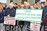 Kevin Griffin, Pat Scannell, Michael F. O'Connor and Tony Carmody, South Kerry Development Partnership held a Alignment Protest Meeting outside of the Kerry County Council Monthly Meeting on Monday