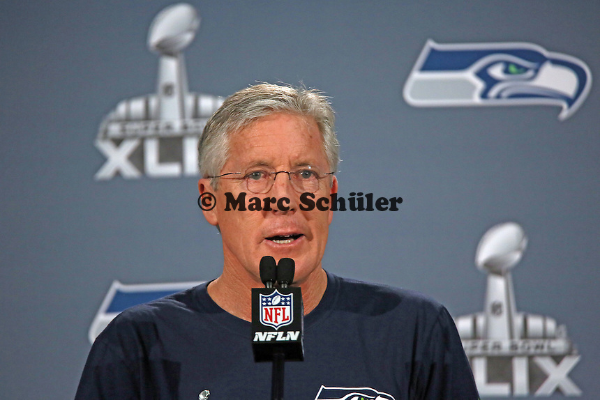 Head Coach Pete Carroll (Seahawks)- Super Bowl XLIX Seattle Seahakws Team-PK, Arizona Grand Hotel