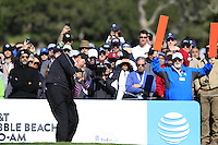 Phil Mickelson (USA) tees off the 6th tee at Pebble Beach Golf Links during Saturday's Round 3 of the 2017 AT&amp;T Pebble Beach Pro-Am held over 3 courses, Pebble Beach, Spyglass Hill and Monterey Penninsula Country Club, Monterey, California, USA. 11th February 2017.<br /> Picture: Eoin Clarke | Golffile<br /> <br /> <br /> All photos usage must carry mandatory copyright credit (&copy; Golffile | Eoin Clarke)
