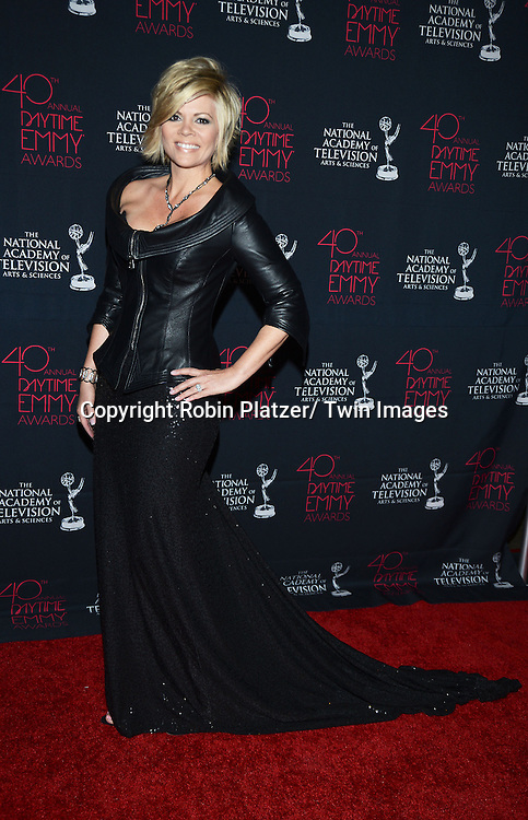 Leslie Miller in Mark Zinuno attends the 40th Annual Daytime Creative Arts Emmy Awards on June 14, 2013 at the Westin Bonaventure Hotel in Los Angeles, California.