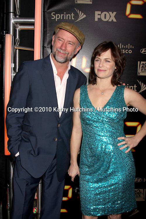 "Xander Berkeley & Sarah Clarke.arrives at the ""24"" Series Finale Party .Boulevard3.Los Angeles, CA.April 30, 2010.©2010 Kathy Hutchins / Hutchins Photo..."