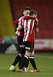 Kieron Freeman of Sheffield Utd is helped off the pitch during the English League One match at the Bramall Lane Stadium, Sheffield. Picture date: November 19th, 2016. Pic Simon Bellis/Sportimage
