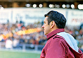 Washington Redskins head coach and general manager George Allen on the sidelines during the game against the Philadelphia Eagles at RFK Stadium in Washington, DC on Sunday, November 7, 1971.  The Eagles and Redskins played to a 7 - 7 tie.  <br /> Credit: Arnie Sachs / CNP