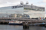 BBC Scotland Television Centre on the River Clyde in Glasgow, Scotland