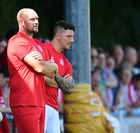Lincoln United manager Sam Wilkinson, left, and Lincoln United's assistant manager Chris Hall<br /> <br /> Photographer Chris Vaughan/CameraSport<br /> <br /> Football - Pre-Season Friendly - Lincoln United v Lincoln City - Saturday 8th July 2017 - Sun Hat Villas Stadium - Lincoln<br /> <br /> World Copyright &copy; 2017 CameraSport. All rights reserved. 43 Linden Ave. Countesthorpe. Leicester. England. LE8 5PG - Tel: +44 (0) 116 277 4147 - admin@camerasport.com - www.camerasport.com