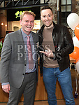 Keith Barry with Centre manager Peter Dolan at the official opening of Abrakebabra and O'Briens in Scotch Hall. Photo:Colin Bell/pressphotos.ie