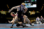 LA CROSSE, WI - MARCH 11: Dan Del Gallo of Southern Maine and Aaron Engle of Cornell College tangle up in the 149 weight class during NCAA Division III Men's Wrestling Championship held at the La Crosse Center on March 11, 2017 in La Crosse, Wisconsin. Dan Del Gallo beat Engle 4-1 to win the National Championship. (Photo by Carlos Gonzalez/NCAA Photos via Getty Images)