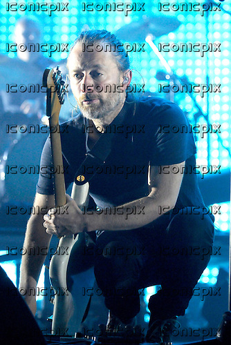 RADIOHEAD vocalist Thom Yorke performing live at the O2 Arena in London UK - 08 Oct 2012.  Photo credit: George Chin/IconicPix