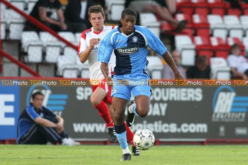Gavin Grant of Wycombe Wanderers, former Gillingham and Millwall player, races upfield during Stevenage Borough vs Wycombe Wanderers, Friendly Match Football at Broadhall Way on 25th July 2008