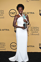 Viola Davis at the 2015 Screen Actors Guild  Awards at the Shrine Auditorium.<br /> January 25, 2015  Los Angeles, CA<br /> Picture: Paul Smith / Featureflash