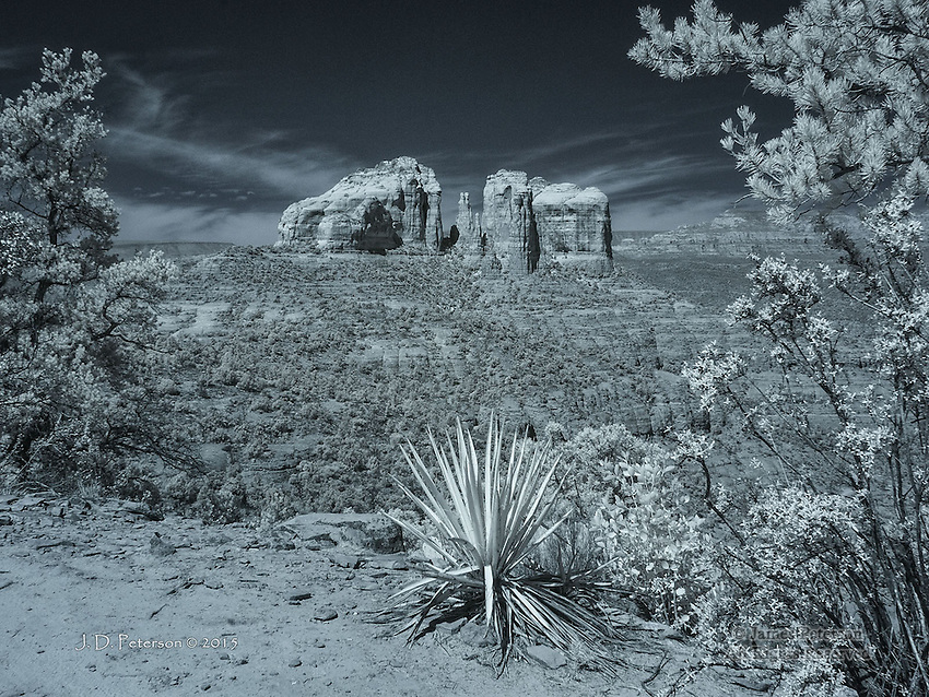 Cathedral Rock from Hiline Trail (Infrared)