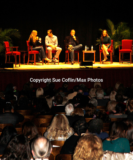 Melissa Ordway & Joshua Morrow & Eric Braeden & Melissa Claire Egan with fans - The Young and The Restless - Genoa City Live celebrating over 40 years with on February 27. 2016 at The Lyric Opera House, Baltimore, Maryland on stage with questions and answers followed with autographs and photos in the theater.  (Photo by Sue Coflin/Max Photos)