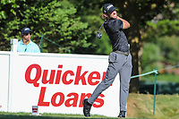 Bethesda, MD - July 1, 2017: Andrew Loupe hits his tee shot during Round 3 of professional play at the Quicken Loans National Tournament at TPC Potomac in Bethesda, MD, July 1, 2017.  (Photo by Elliott Brown/Media Images International)