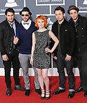 Paramore at The 52nd Annual GRAMMY Awards held at The Staples Center in Los Angeles, California on January 31,2010                                                                   Copyright 2009  DVS / RockinExposures