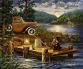 Dona Gelsinger, LANDSCAPES, paintings, USGE9505a,#l# Landschaften, Schiffe, paisajes, barcos, llustrations, pinturas