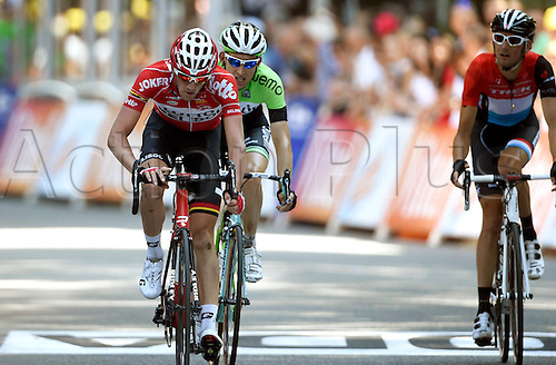 22.07.2014. Carcassonne to Bagnères-de-Luchon, France. Tour de France cycling championship, stage 16.   VAN DEN BROECK Jurgen BEL of Lotto Belisol - MOLLEMA Bauke NED of Belkin-Pro Cycling Team