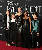 "LOS ANGELES, USA. September 30, 2019: Angelina Jolie & children at the world premiere of ""Maleficent: Mistress of Evil"" at the El Capitan Theatre.<br /> Picture: Jessica Sherman/Featureflash"