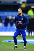 17th March 2019, Goodison Park, Liverpool, England; EPL Premier League Football, Everton versus Chelsea; Eden Hazard of Chelsea warms up prior to the kick off