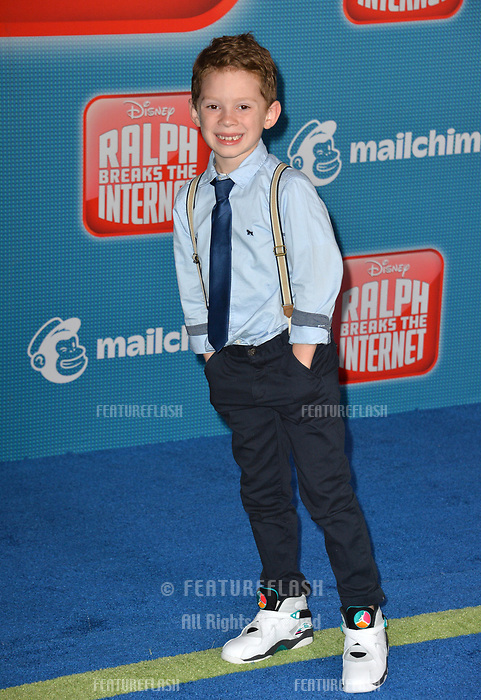 """LOS ANGELES, CA. November 05, 2018: Gavin Thomas at the world premiere of """"Ralph Breaks The Internet"""" at the El Capitan Theatre.<br /> Picture: Paul Smith/Featureflash"""