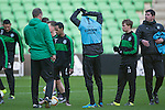 08-12-2015, Training, FC, Europees, Euroborg, assistent-trainer Dick Lukkien of FC Groningen, Hedwiges Maduro FC Groningen,  trainer Erwin van de Looi of FC Groningen,