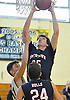 Kyle LaGuardia #25 of Smithtown West drives to the net during a non-league game against Jericho in the Richard Brown Nassau-Suffolk Challenge at Uniondale High School on Saturday, Jan. 14, 2017. Smithtown West won by a score of 56-45.