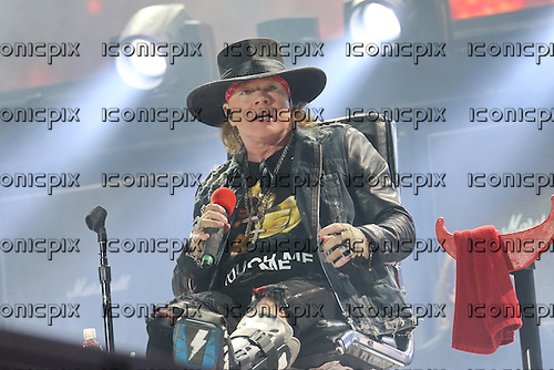 AC/DC &amp; Axl Rose - performing live at the Passeio Martimo De Alge in Lisbon Portugal - <br /> 07 May 2016.  Photo credit:  Thomas Zeidler/Dalle/IconicPix