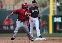 Adan Eaton of Diamondbacks  ,during   Colorado Rockies vs Arizona Diamondbacks, game of  Cactus league and Spring Trainig 2013..Salt River Fields stadium in Arizona. February 24, 2013