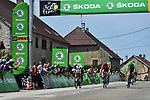 Michael Matthews (AUS) Team Sunweb, Andre Greipel (GER) Lotto-Soudal and Green Jersey Marcel Kittel (GER) Quick-Step Floors at the intermediate sprint point during Stage 8 of the 104th edition of the Tour de France 2017, running 187.5km from Dole to Station des Rousses, France. 8th July 2017.<br /> Picture: ASO/Pauline Ballet | Cyclefile<br /> <br /> <br /> All photos usage must carry mandatory copyright credit (&copy; Cyclefile | ASO/Pauline Ballet)