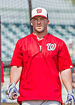 20 March 2015: Washington Nationals infielder Dan Uggla awaits his turn in the batting cage prior to a Spring Training game against the Houston Astros at Osceola County Stadium in Kissimmee, Florida. The Nationals defeated the Astros 7-5 in Grapefruit League play. Mandatory Credit: Ed Wolfstein Photo *** RAW (NEF) Image File Available ***