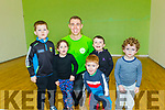 George Bastible pictured at Tralee sports Complex last Saturday morning with some of the children whos parents signed them up for the,RINKA, childrens fitness and welness programme which is a National initiative.