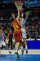 Real Madrid´s Gustavo Ayon and Galatasaray´s Maric during 2014-15 Euroleague Basketball match between Real Madrid and Galatasaray at Palacio de los Deportes stadium in Madrid, Spain. January 08, 2015. (ALTERPHOTOS/Luis Fernandez) /NortePhoto /NortePhoto.com