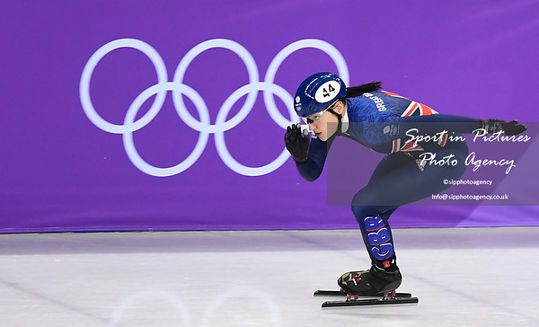 Charlotte Gilmartin (GBR). Short track. Gangneung ice arena. Pyeongchang2018 winter Olympics. Gangneung. Republic of Korea. 10/02/2018. ~ MANDATORY CREDIT Garry Bowden/SIPPA - NO UNAUTHORISED USE - +44 7837 394578