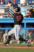Aberdeen Ironbirds outfielder Trent Mummey (12) during a game vs. the Batavia Muckdogs at Dwyer Stadium in Batavia, New York;  August 10, 2010.   Aberdeen defeated Batavia 4-2.  Photo By Mike Janes/Four Seam Images